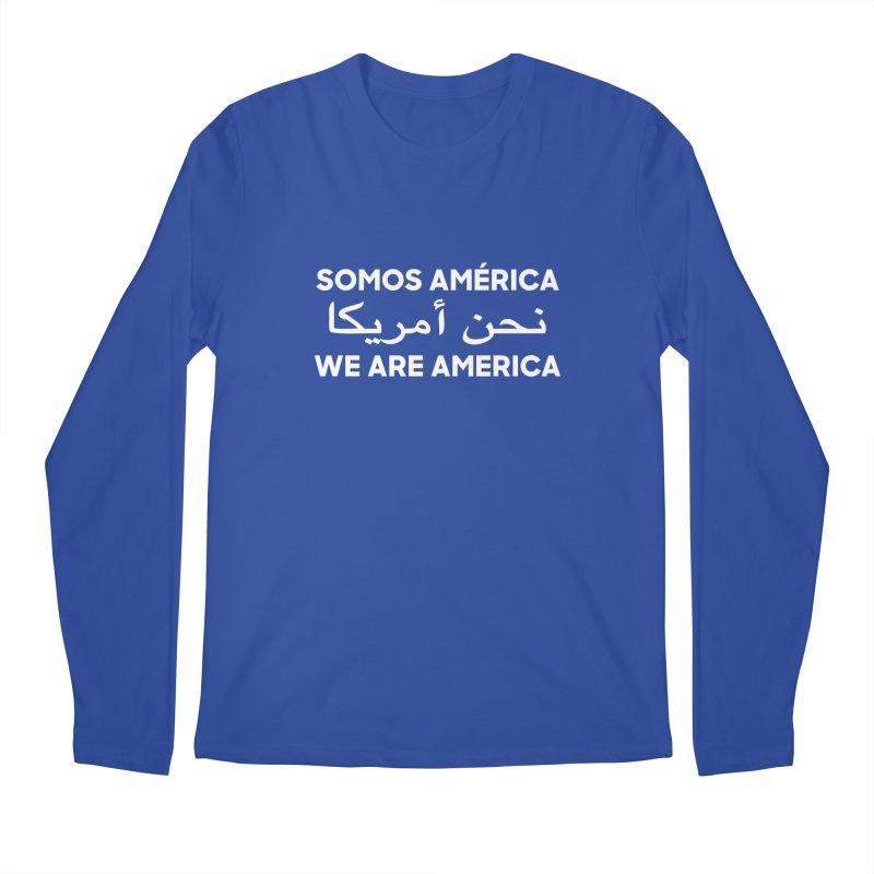 WE ARE AMERICA (white) Men's Regular Longsleeve T-Shirt by Resist Hate