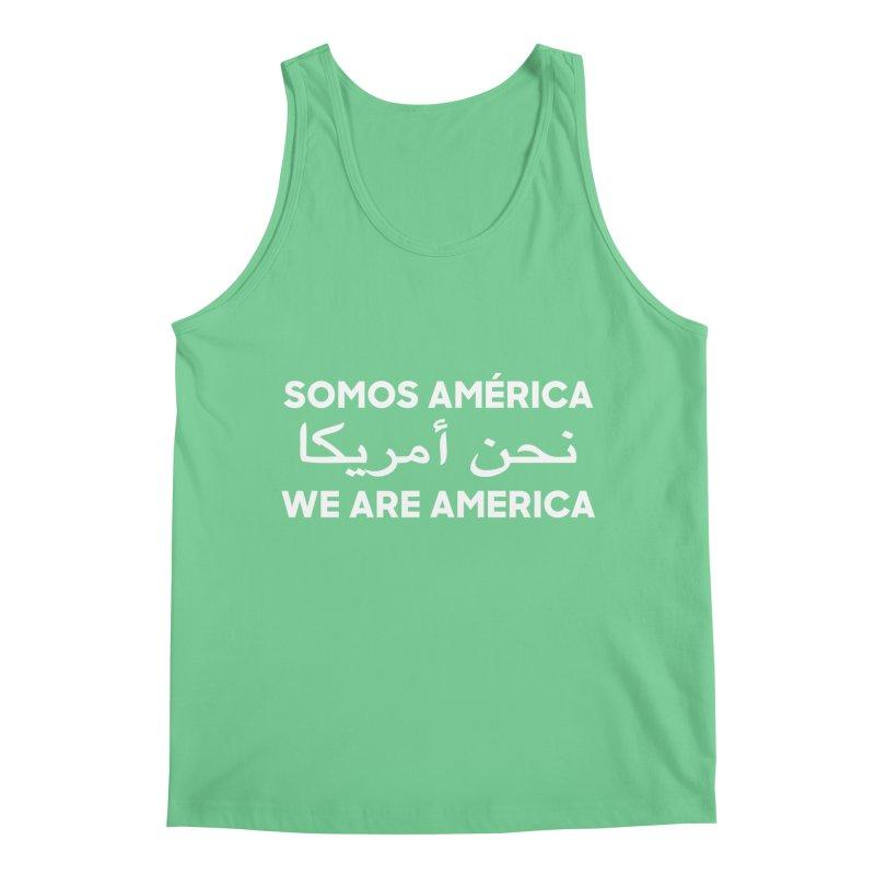 WE ARE AMERICA (white) Men's Regular Tank by Resist Hate