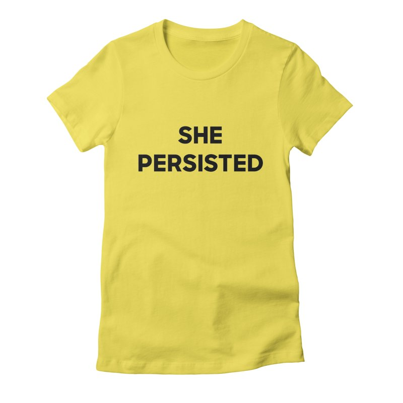 SHE PERSISTED Women's Fitted T-Shirt by Resist Hate
