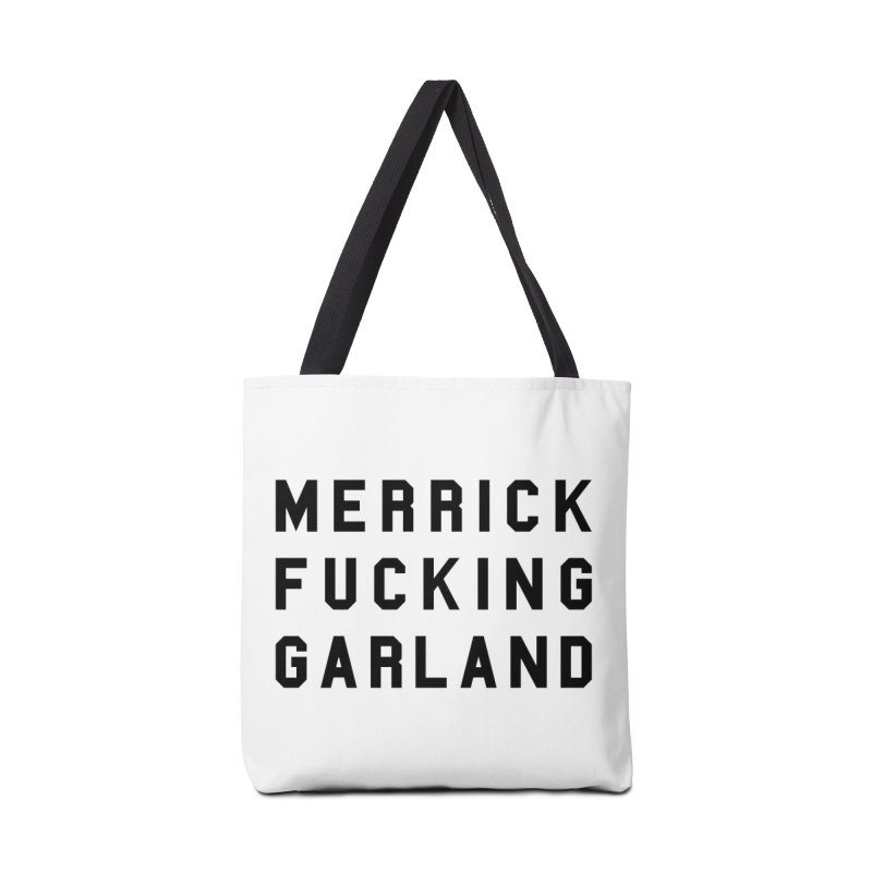 Merrick Fucking Garland Accessories Bag by Resist Hate