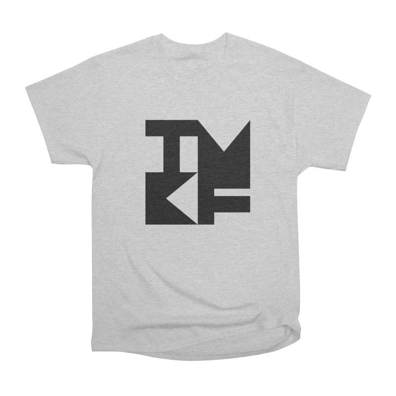 TMKF Block black (This Machine Kills Fascists) Women's Heavyweight Unisex T-Shirt by Resist Hate