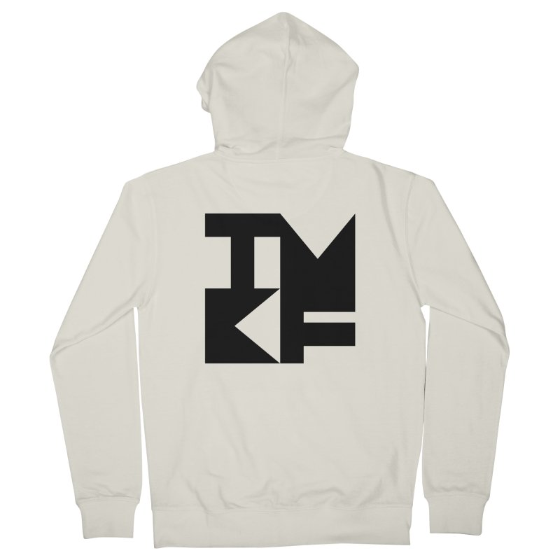 TMKF Block black (This Machine Kills Fascists) Men's French Terry Zip-Up Hoody by Resist Hate