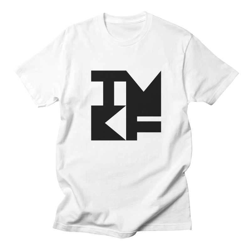 TMKF Block black (This Machine Kills Fascists) in Men's Regular T-Shirt White by Resist Hate