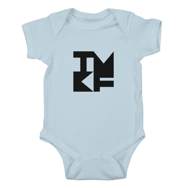 TMKF Block black (This Machine Kills Fascists) Kids Baby Bodysuit by Resist Hate
