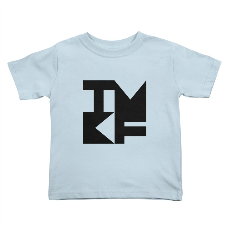 TMKF Block black (This Machine Kills Fascists) Kids Toddler T-Shirt by Resist Hate
