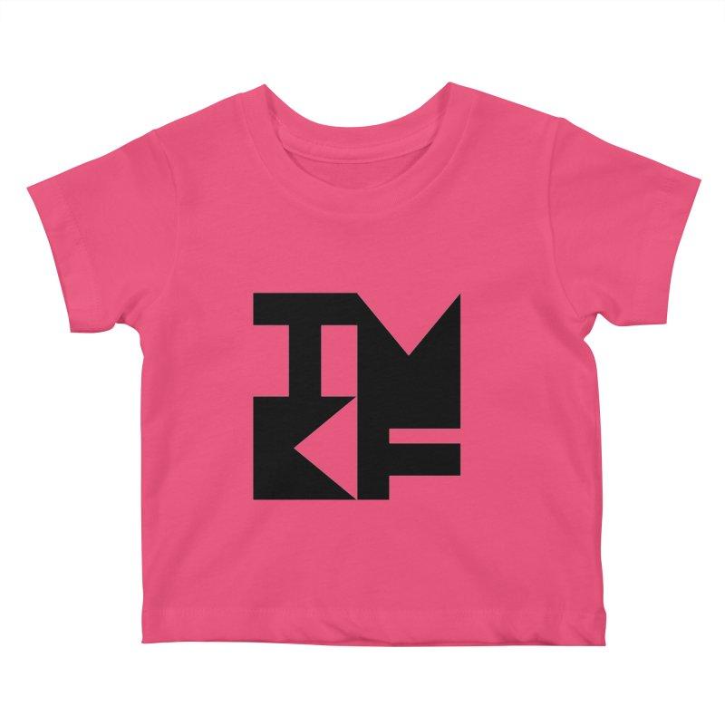 TMKF Block black (This Machine Kills Fascists) Kids Baby T-Shirt by Resist Hate