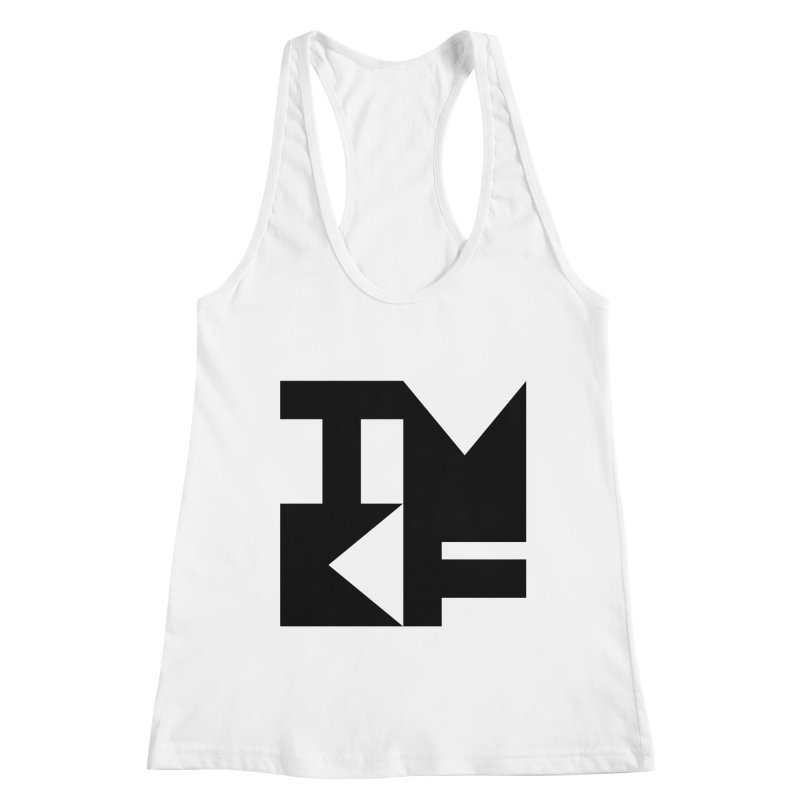 TMKF Block black (This Machine Kills Fascists) Women's Racerback Tank by Resist Hate