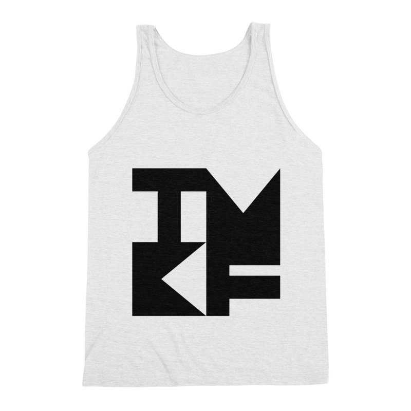 TMKF Block black (This Machine Kills Fascists) Men's Triblend Tank by Resist Hate