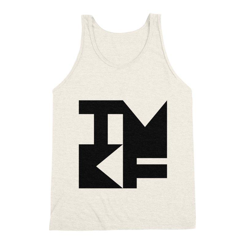 TMKF Block black (This Machine Kills Fascists) Men's Triblend Tank by Resist Hate