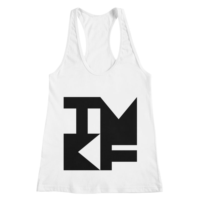 TMKF Block black (This Machine Kills Fascists) Women's Racerback Tank by Resist Hate