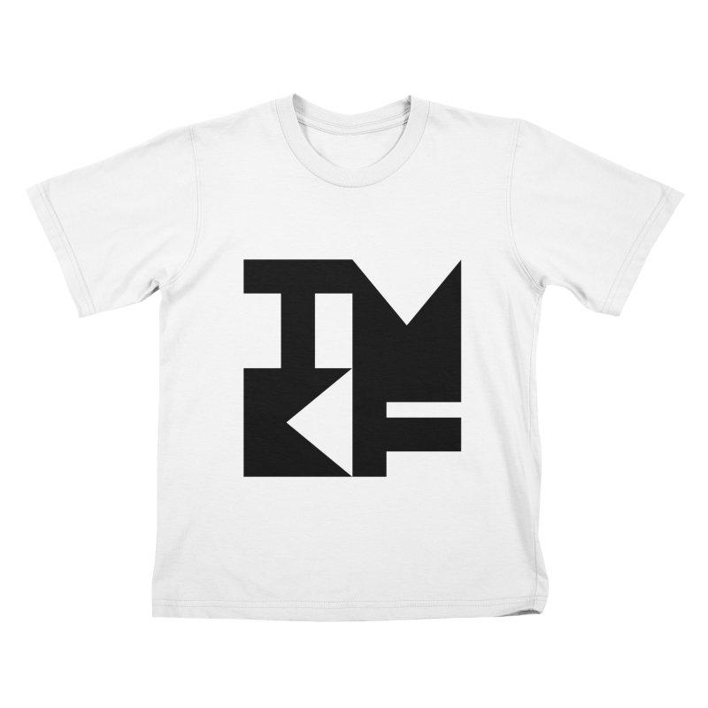 TMKF Block black (This Machine Kills Fascists) Kids T-Shirt by Resist Hate