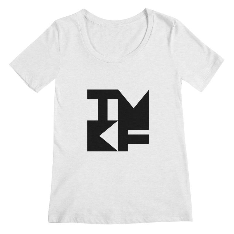 TMKF Block black (This Machine Kills Fascists) Women's Regular Scoop Neck by Resist Hate