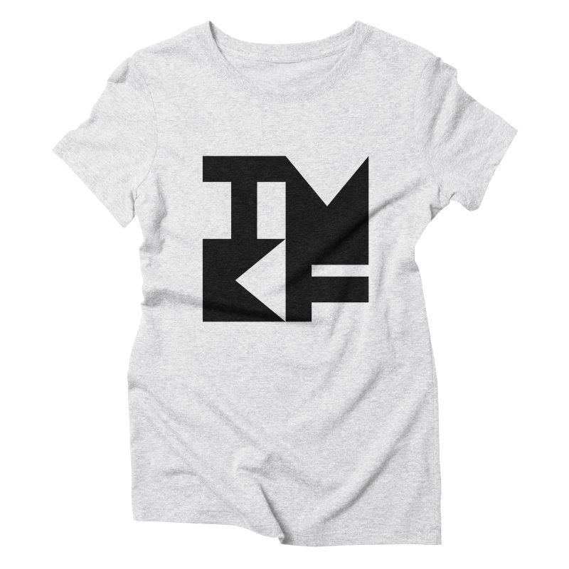 TMKF Block black (This Machine Kills Fascists) Women's Triblend T-Shirt by Resist Hate