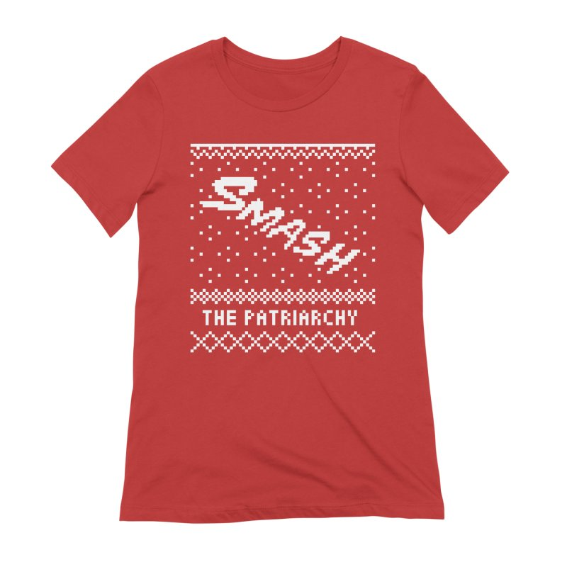 Smash The Patriarchy XMAS Women's Extra Soft T-Shirt by Resist Hate