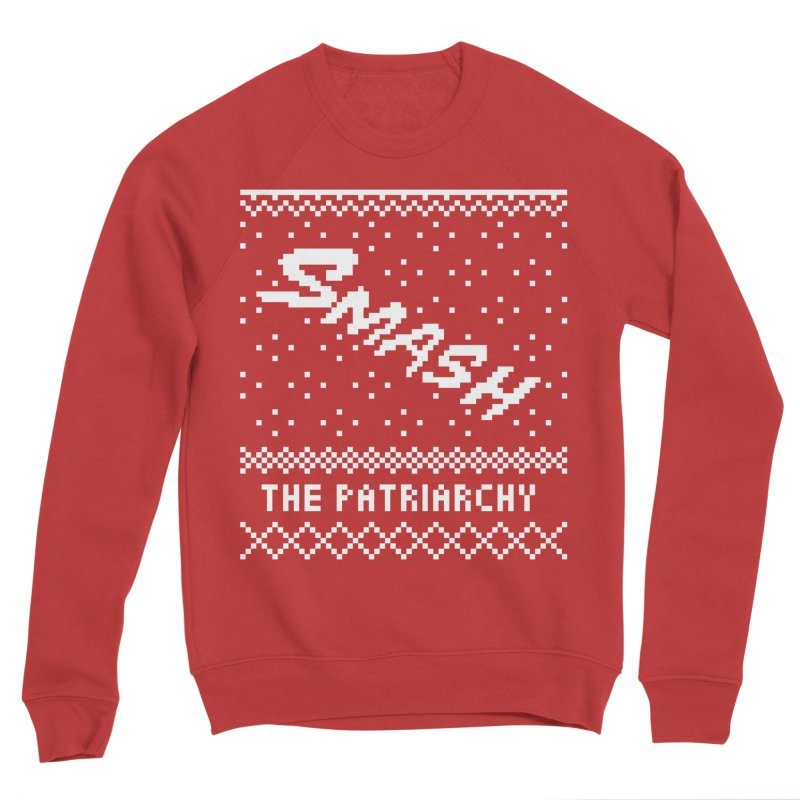 Smash The Patriarchy XMAS in Men's Sponge Fleece Sweatshirt Red by Resist Hate