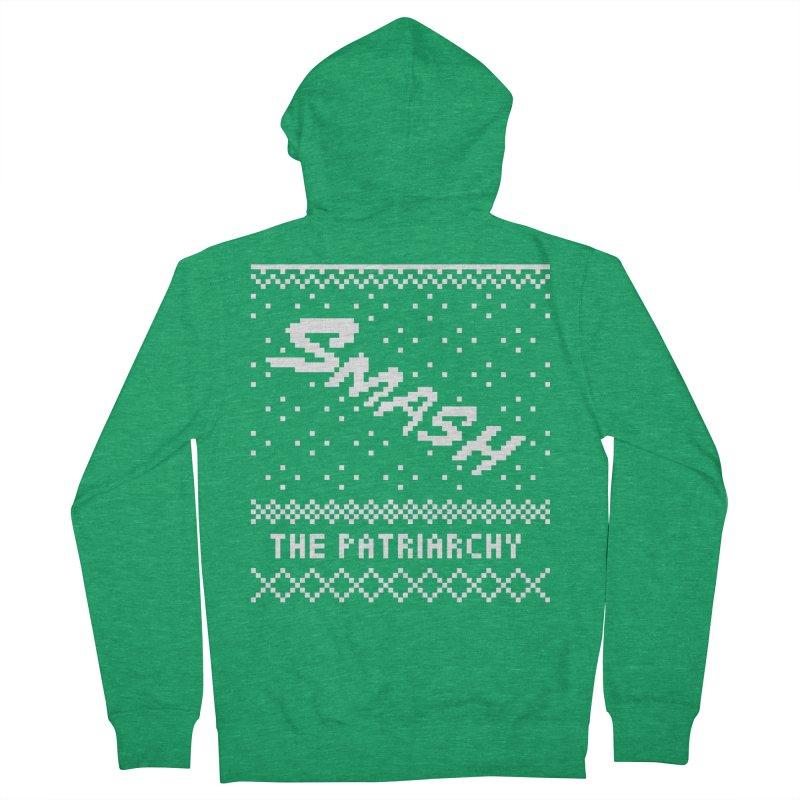 Smash The Patriarchy XMAS Men's Zip-Up Hoody by Resist Hate