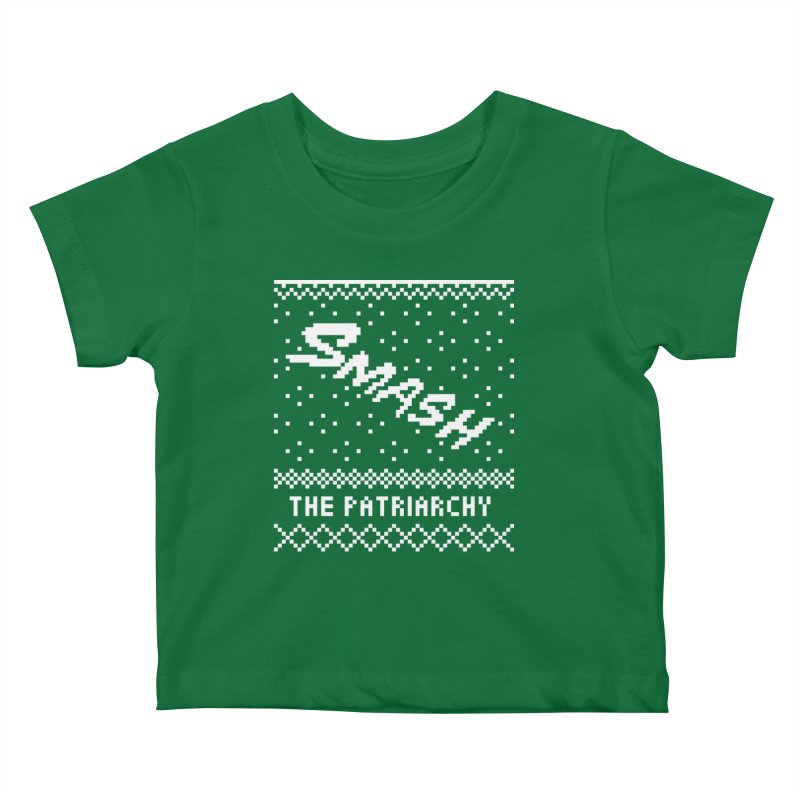 Smash The Patriarchy XMAS Kids Baby T-Shirt by Resist Hate