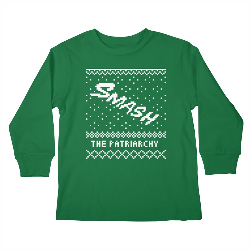 Smash The Patriarchy XMAS Kids Longsleeve T-Shirt by Resist Hate