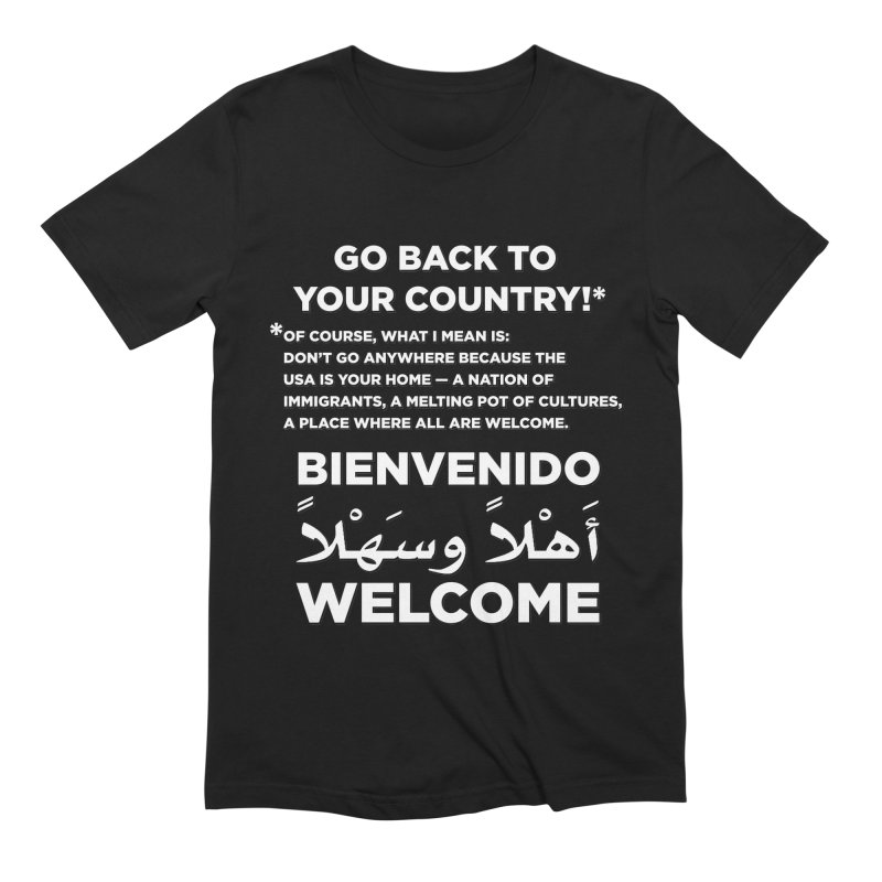 Welcome Home Men's Extra Soft T-Shirt by Resistance Merch