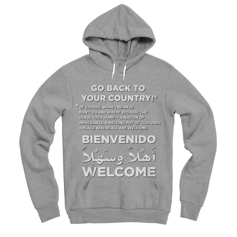 Welcome Home Women's Sponge Fleece Pullover Hoody by Resistance Merch