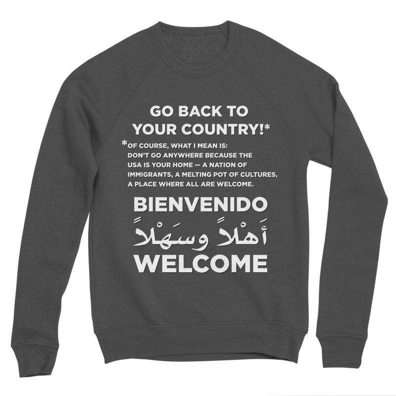 Welcome Home Women's Sponge Fleece Sweatshirt by Resistance Merch