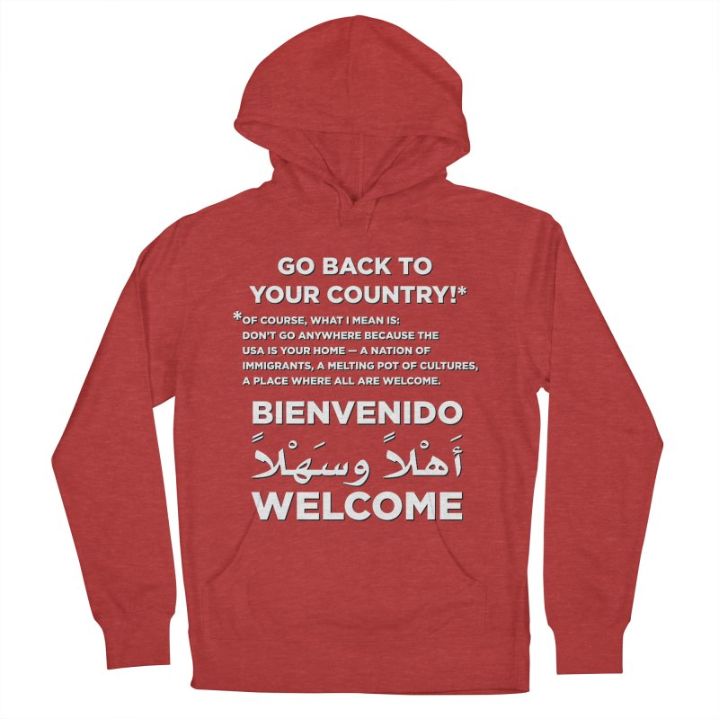Welcome Home Women's French Terry Pullover Hoody by Resistance Merch