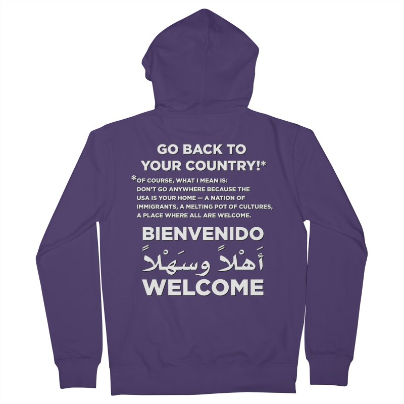 Welcome Home Women's French Terry Zip-Up Hoody by Resistance Merch