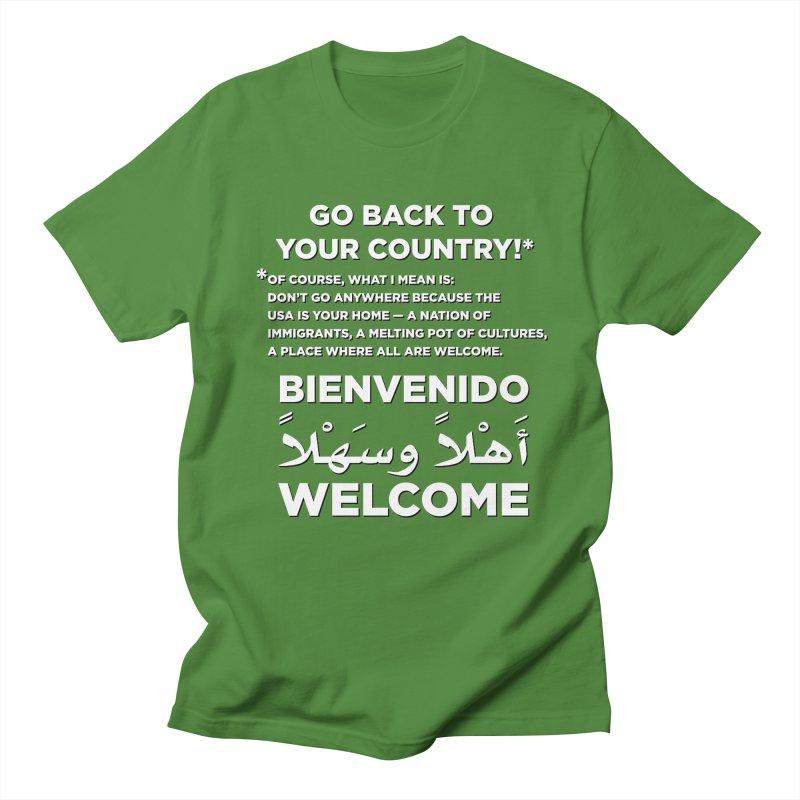 Welcome Home Men's Regular T-Shirt by Resistance Merch