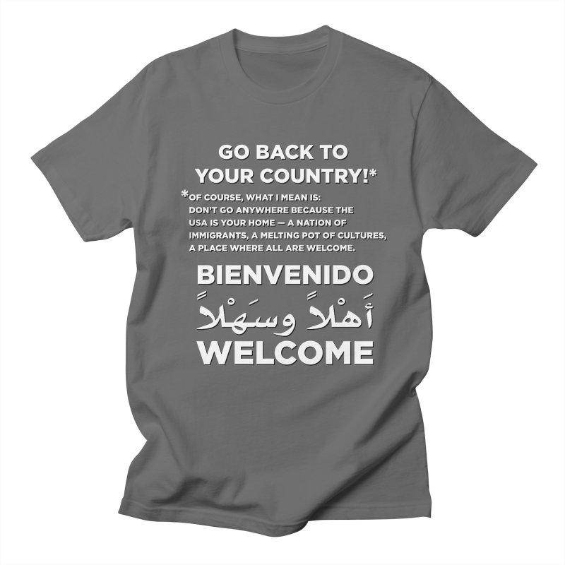 Welcome Home Women's Regular Unisex T-Shirt by Resistance Merch