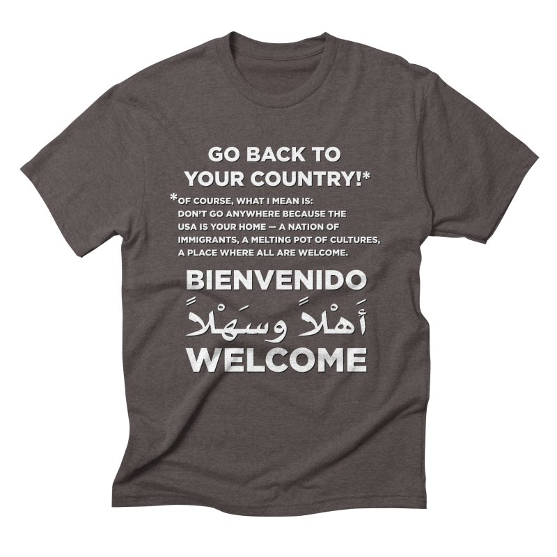 Welcome Home Men's Triblend T-Shirt by Resistance Merch