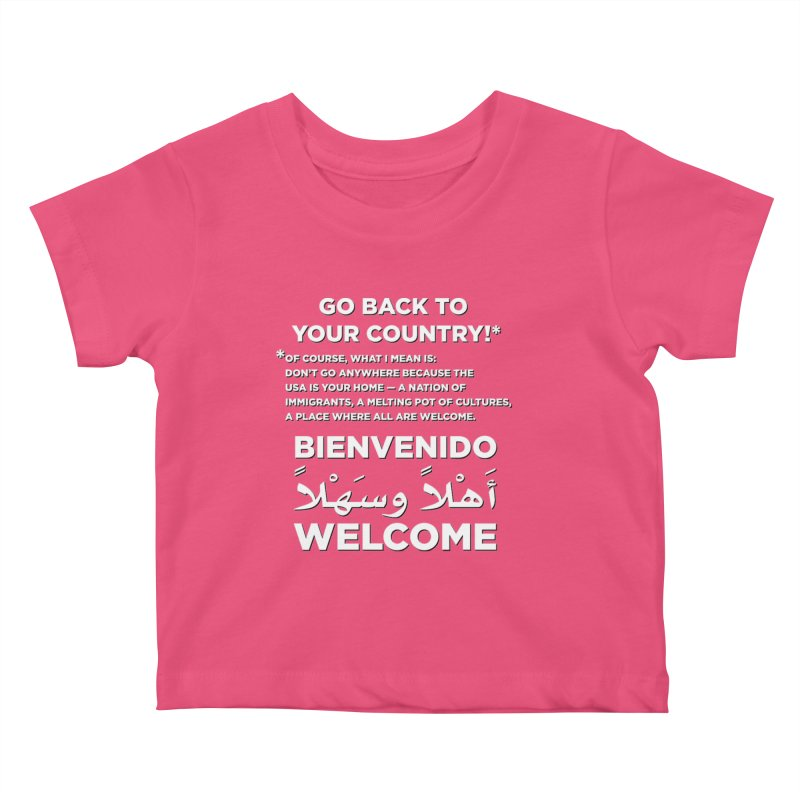 Welcome Home Kids Baby T-Shirt by Resistance Merch