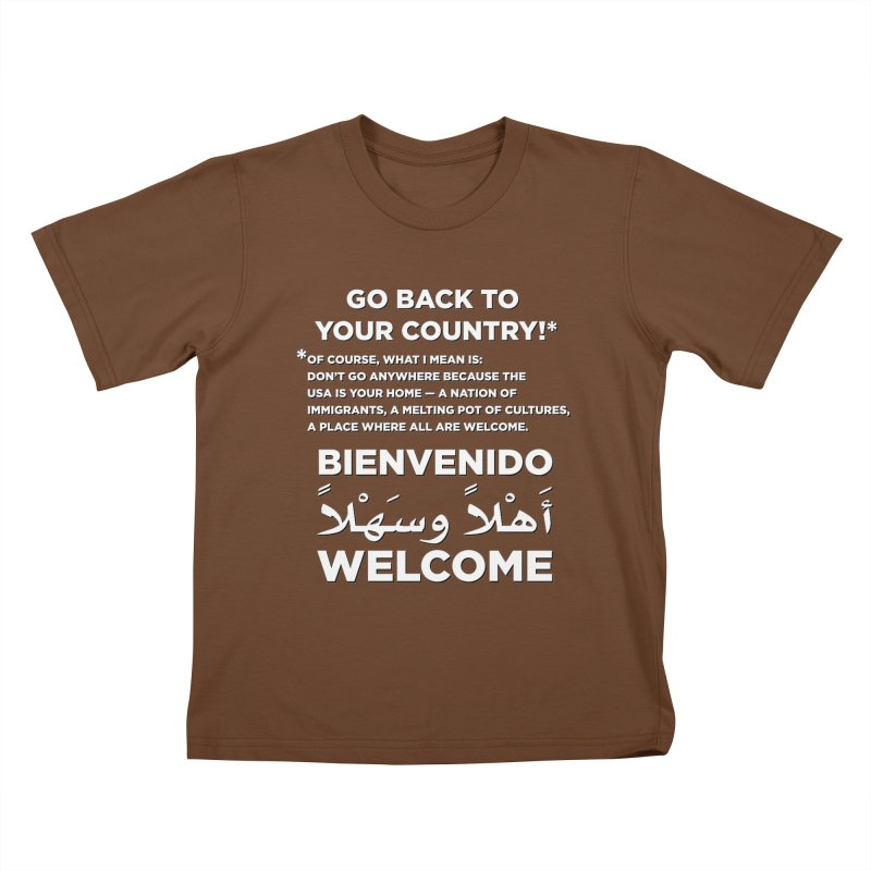 Welcome Home Kids T-Shirt by Resistance Merch