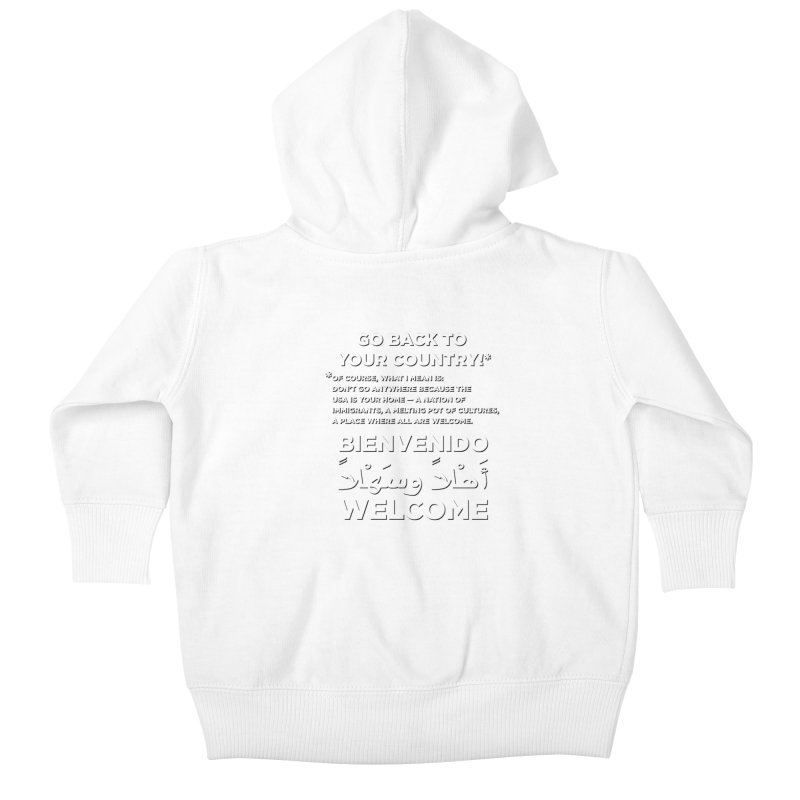 Welcome Home Kids Baby Zip-Up Hoody by Resistance Merch