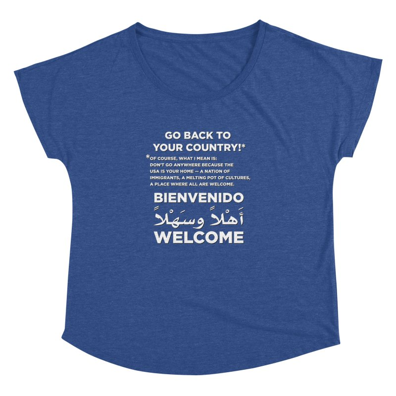 Welcome Home Women's Dolman Scoop Neck by Resistance Merch