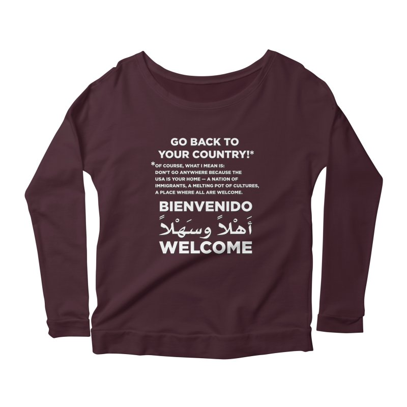 Welcome Home Women's Scoop Neck Longsleeve T-Shirt by Resistance Merch