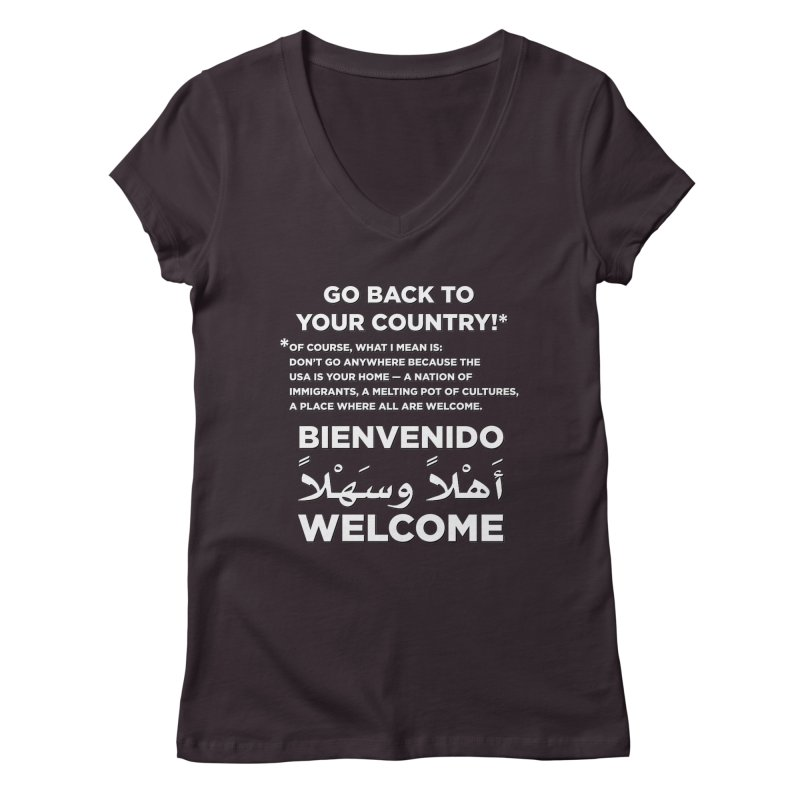 Welcome Home Women's Regular V-Neck by Resistance Merch