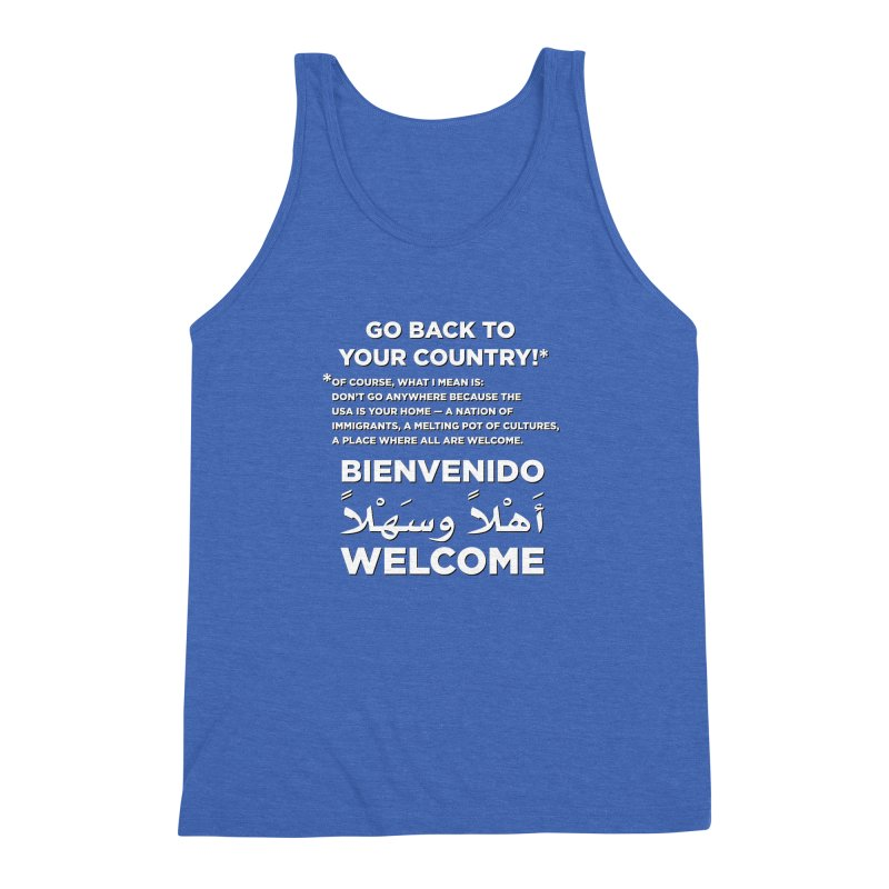 Welcome Home Men's Triblend Tank by Resistance Merch