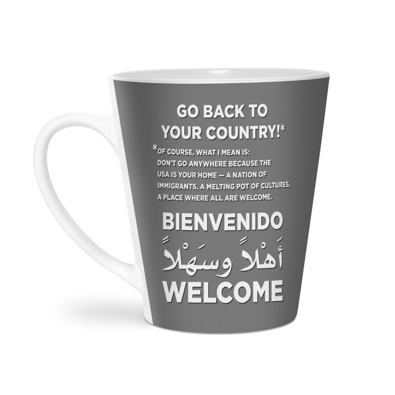 Welcome Home Accessories Latte Mug by Resistance Merch