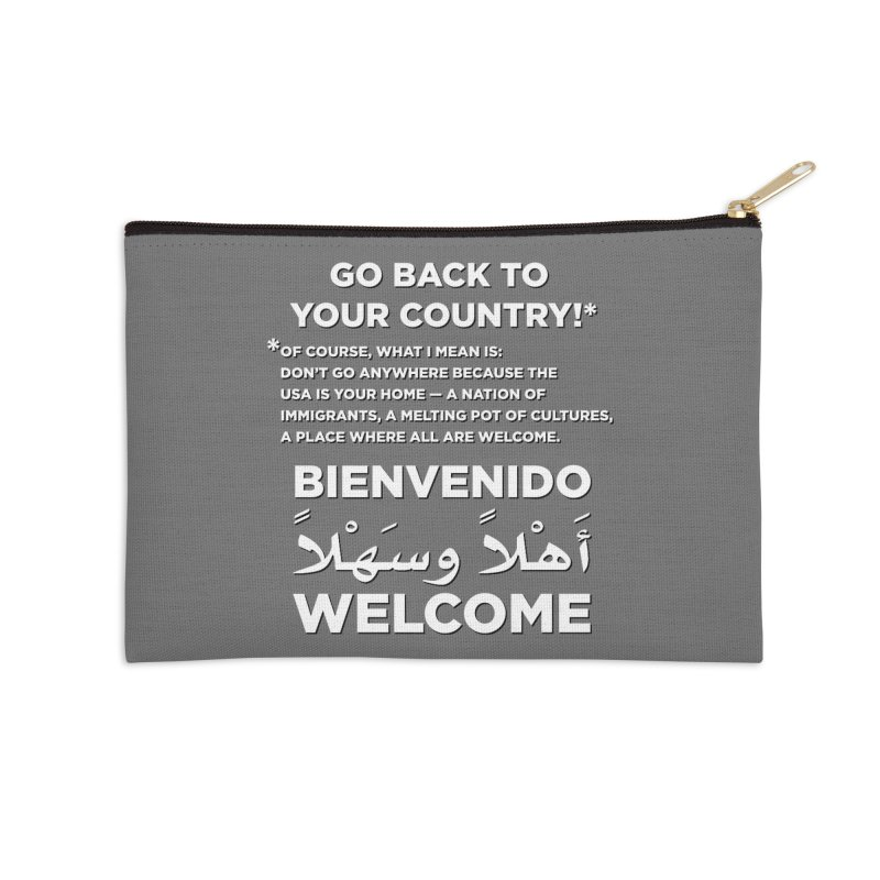 Welcome Home Accessories Zip Pouch by Resistance Merch