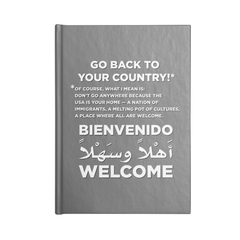 Welcome Home Accessories Lined Journal Notebook by Resistance Merch