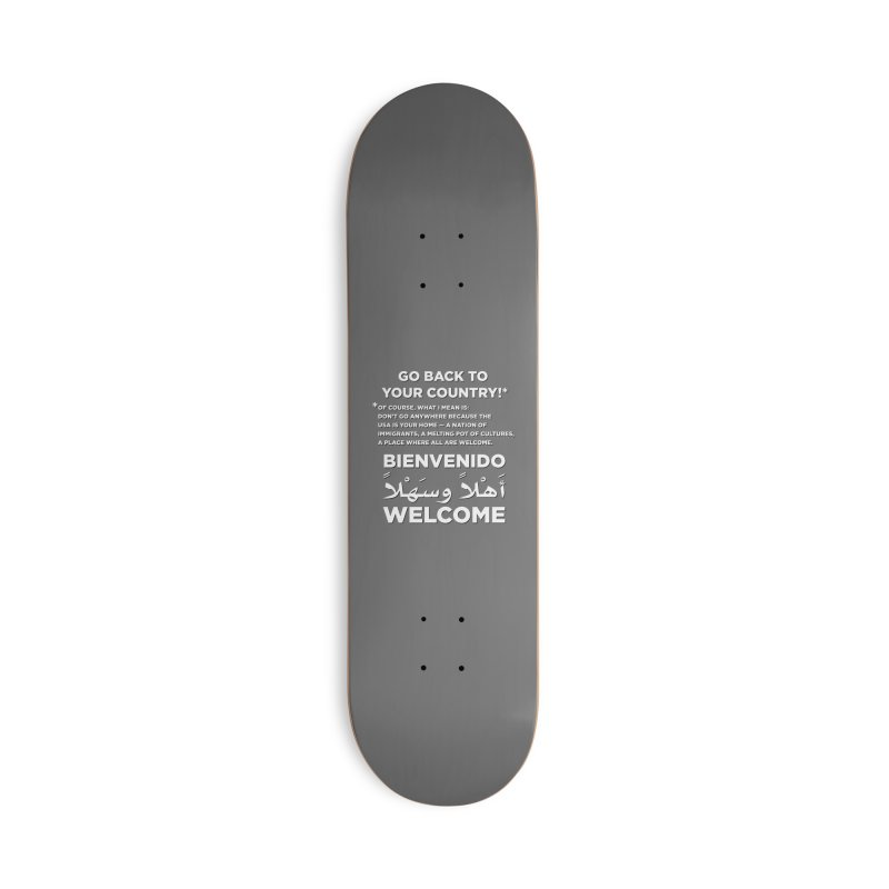 Welcome Home Accessories Deck Only Skateboard by Resistance Merch