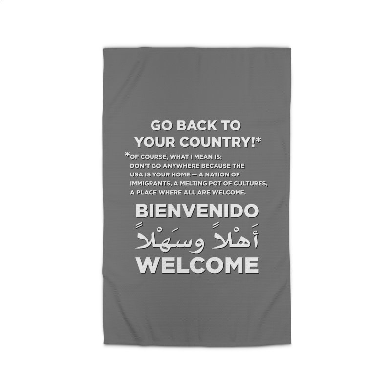 Welcome Home Home Rug by Resistance Merch