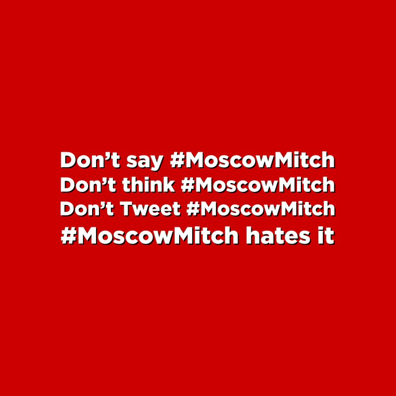 #MoscowMitch by Resistance Merch