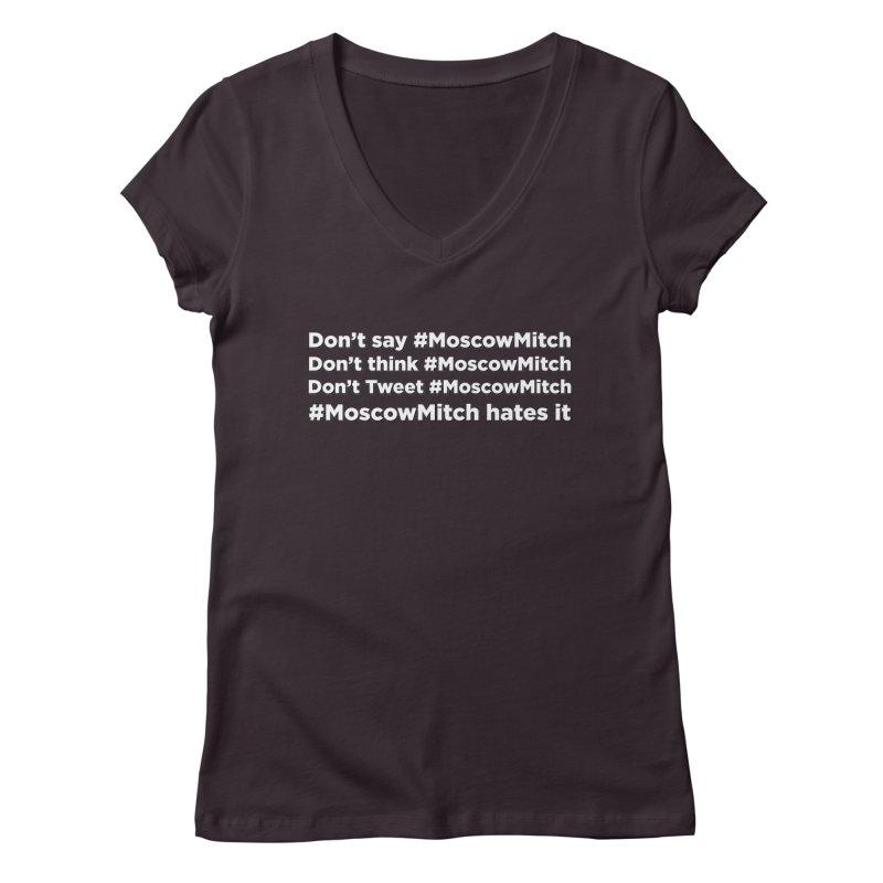 #MoscowMitch Women's Regular V-Neck by Resistance Merch