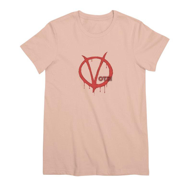 V for Vote Women's Premium T-Shirt by Resistance Merch