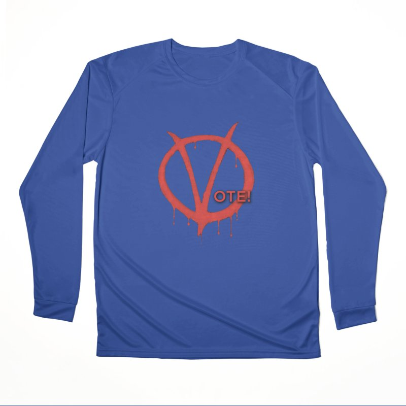 V for Vote Men's Performance Longsleeve T-Shirt by Resistance Merch