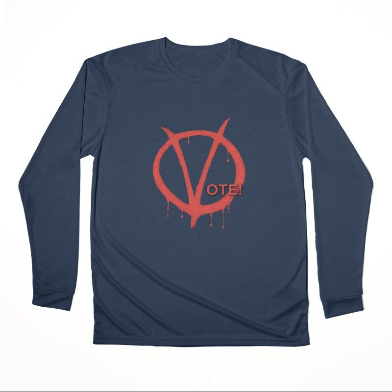 V for Vote Women's Performance Unisex Longsleeve T-Shirt by Resistance Merch