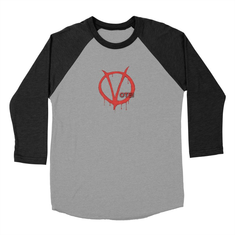 V for Vote Women's Baseball Triblend Longsleeve T-Shirt by Resistance Merch