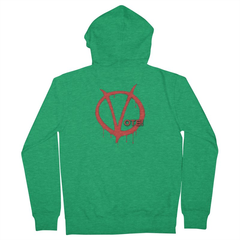 V for Vote Men's Zip-Up Hoody by Resistance Merch