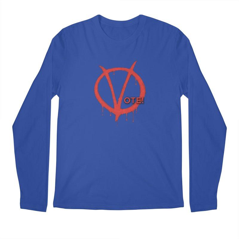 V for Vote Men's Regular Longsleeve T-Shirt by Resistance Merch